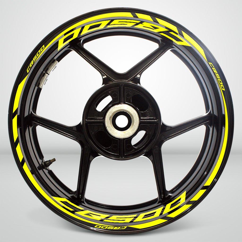 Rosso Riflettente Ruote Moto Cerchione Decalcomanie Accessorio Adesivi per Honda CB 500