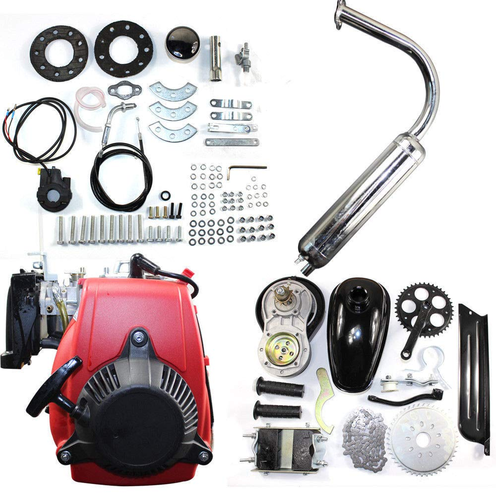 BSTOOL 49cc 4 stroke Engine Motor Kit Bike Fuel Gas Petrol Motorized Bicycle Scooter Conversion kit