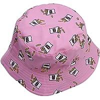 LALANG Vintage Canvas Double Side Fisherman Hat Women Men Sunhat Cap Outdoor Punk Bucket Hat Couple