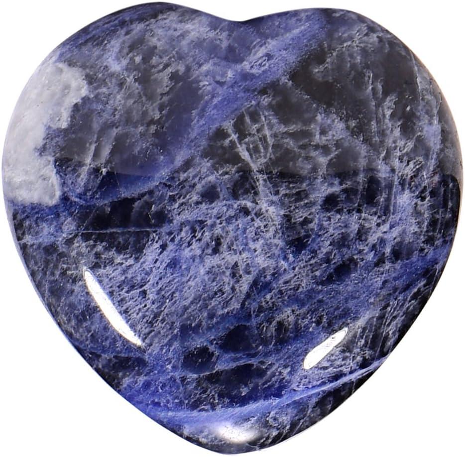 Morella piedras preciosas gema Sodalita africana forma de corazón Ángel de la Guarda protector de 3 cm en una bolsa de terciopelo