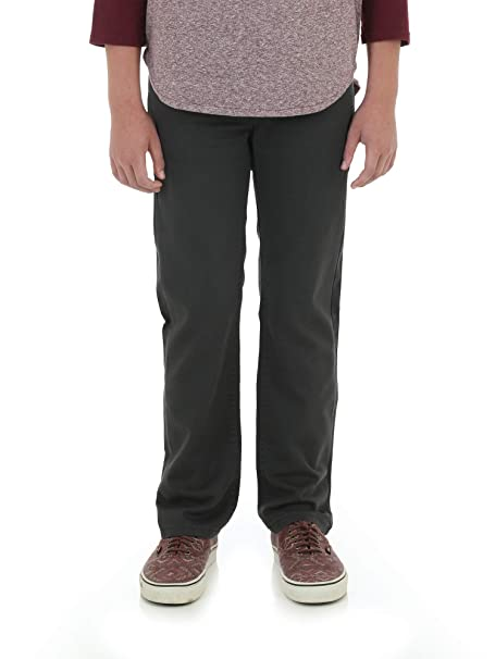 c05495b8 Image Unavailable. Image not available for. Color: Wrangler Boy's Slim FIT  Jeans Active Flex Fabrics (Dark Gray, Size 5)