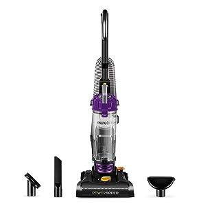 Eureka PowerSpeed Bagless Upright Vacuum Cleaner, Lite, Black