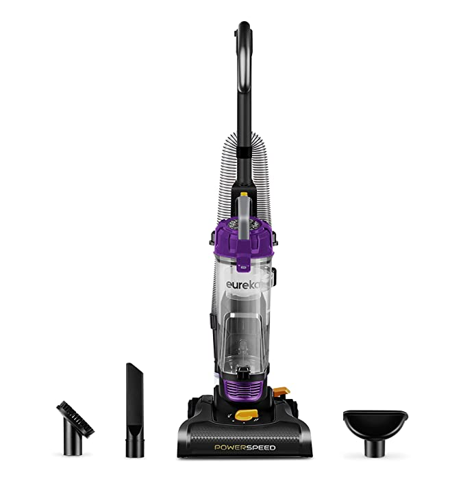 Eureka PowerSpeed Bagless Upright Vacuum Cleaner, Lite, Black