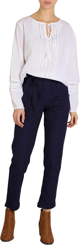 En Azul Y Verde Mo Pantalon Mujer Efecto Paper Bag Ropa Pantalones
