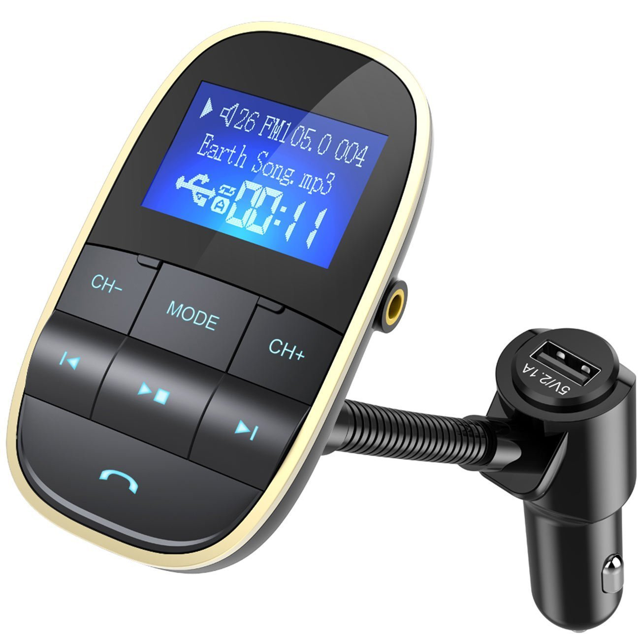 Nulaxy Bluetooth FM Transmitter KFZ Auto Radio Adapter: Amazon.de ...