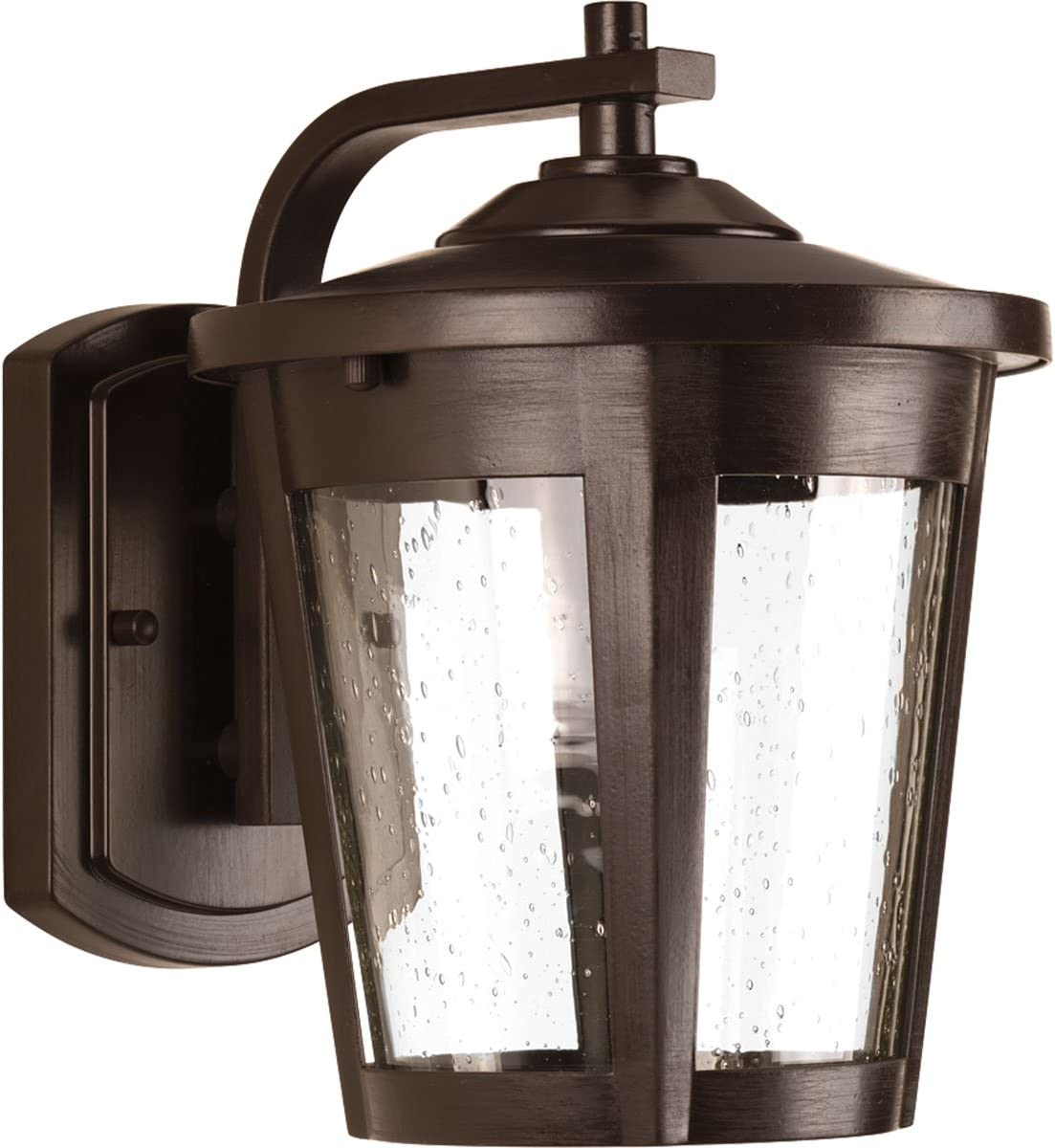 Progress Lighting P6078-2030K9 Transitional One Light Wall Lantern from East Haven Led Collection Dark Finish, Antique Bronze