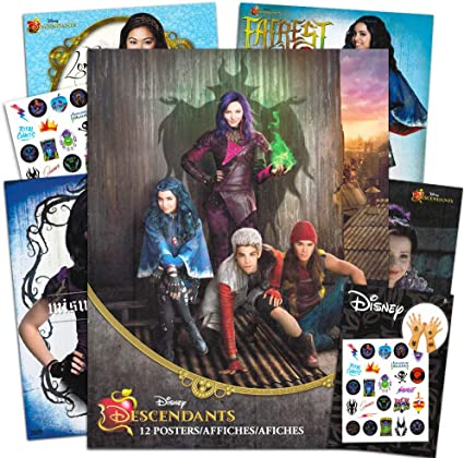 Amazon.com: Disney Descendants Cartel libro Super Set – -12 ...