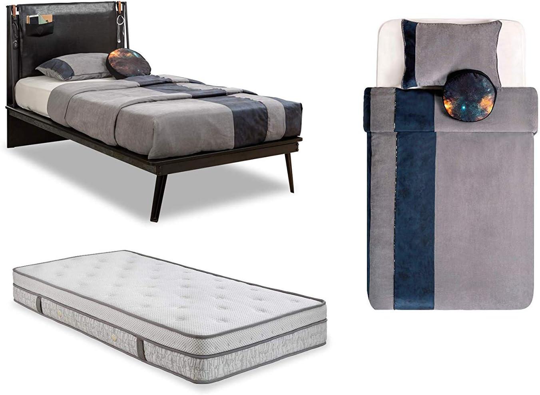 Cama de una plaza y media - Incluye un colchón y una manta ...
