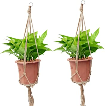 OFFIDIX Retro DIY Makramee Pflanze Aufhänger Blumentopf Hanging ...