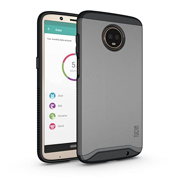 huge selection of 07541 f3e69 Moto Z3 Play Case, Moto Z3 Case, TUDIA Slim-Fit Heavy Duty [Merge] Extreme  Protection/Rugged but Slim Dual Layer Case for Motorola Moto Z3 Play ...