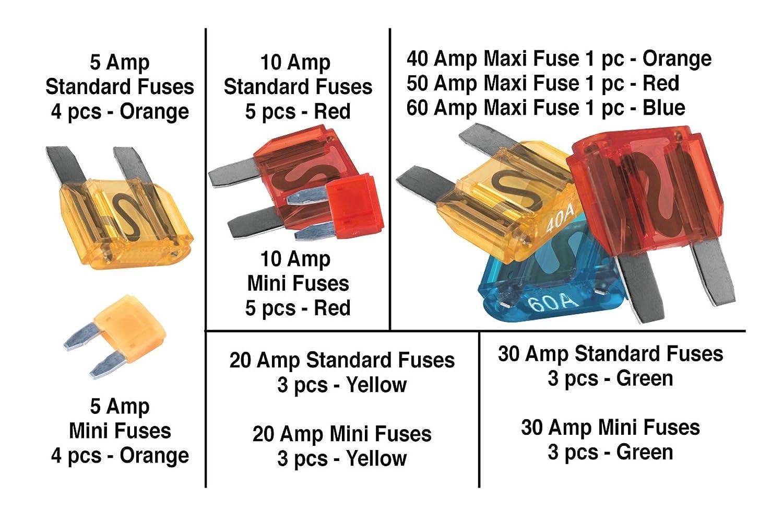 Performance Tool W5369 Performance Tool Mini Fuse Assortment 120 Piece