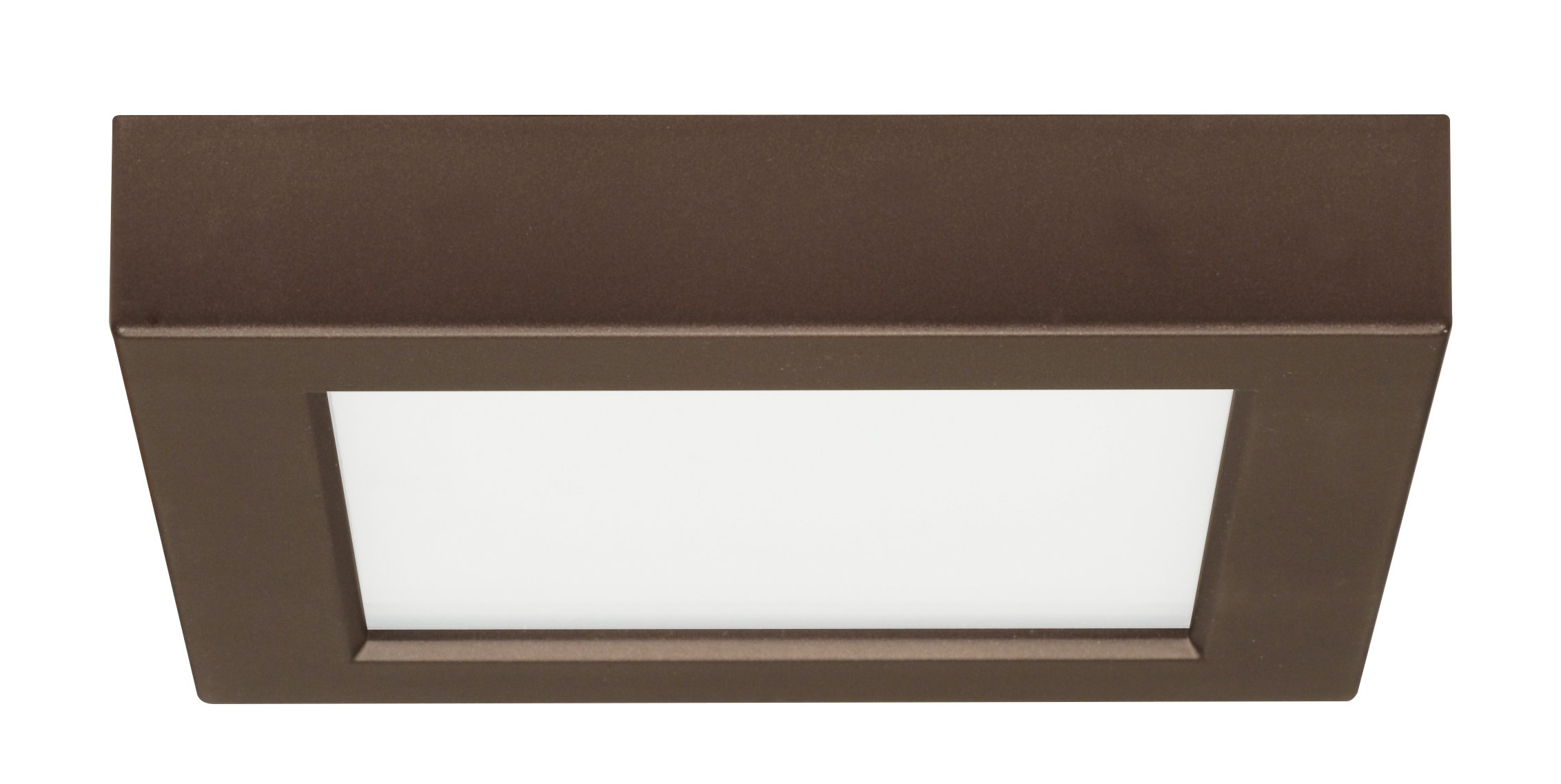 Satco Products S9326 Blink Flush Mount LED Fixture, 10.5W/5'', Bronze