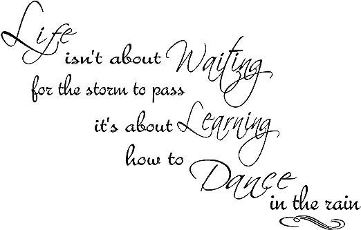 Quote It Life Dance In The Rain 3 Wall Quote Inspirational Quotes Vinyl Decals Dancing Motivational Transfers Murals Kids Children