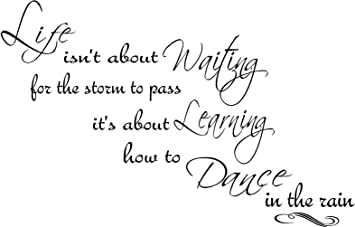 Amazoncom Quote It Life Dance In The Rain 3 Wall Quote