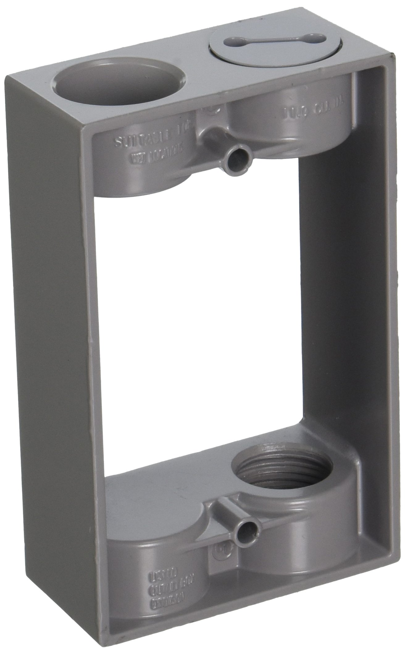 Hubbell-Bell 5403-0 Weatherproof Box Extension Adapter, 5-1/4-Inch X 3-1/2-Inch