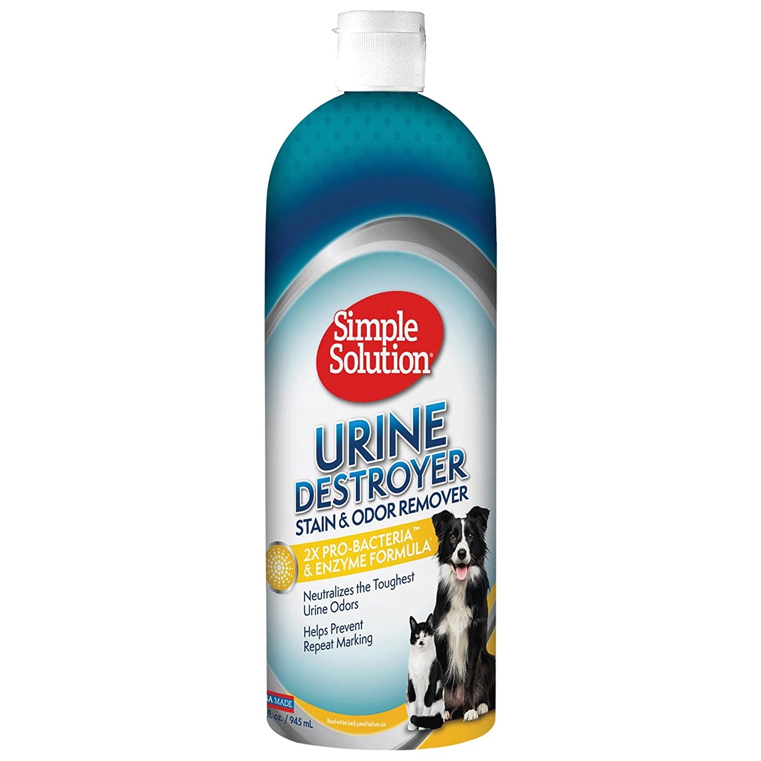 Simple Solution Pet Urine Destroyer | Enzymatic Cleaner with 2X Pro-Bacteria Cleaning Power | Targets Urine Stains and Odors