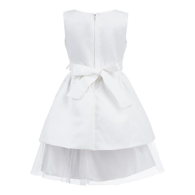Princesas Disney - Traje de fiesta para las niñas para bodas y celebraciones, color blanco, 3-4 años (Katara 1692): Amazon.es: Juguetes y juegos