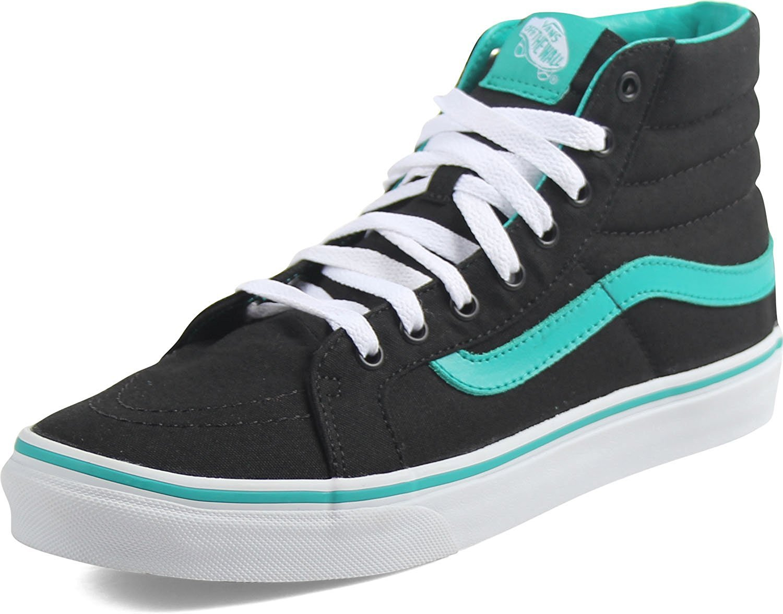 Vans Womens Foil Metallic Sk8-Hi Slim Sneaker B06XF75HBR 5 D(M) US Mens / 6.5 B(M) US Womens|(Pop) Columbia/Black