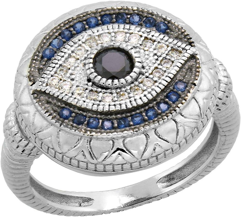Black Evil Eye Ring multi-sizes