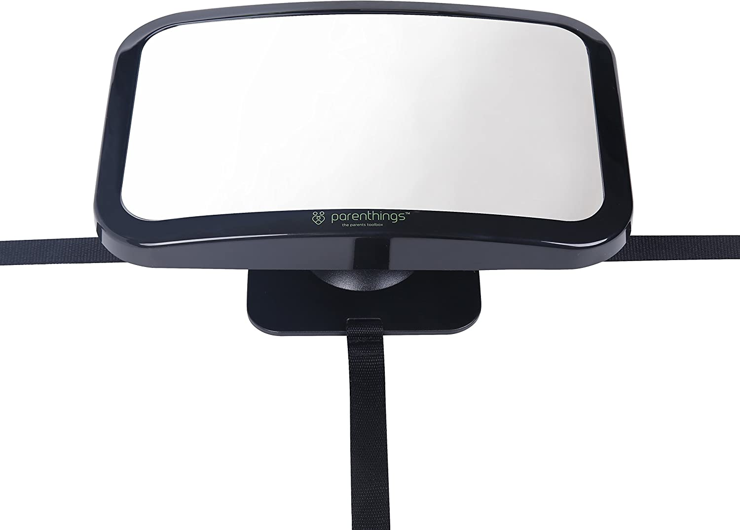 Parenthings Baby Car Mirror for Back Seat Rear View Monitor-Super Clear Wide View with Acrylic 360/° Rotatable Pivot-100/% Shatterproof and Stable-Universal Fit Classic Black