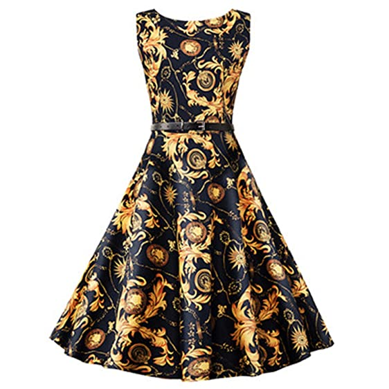 WINNER Vestido NEW Summer Vintage Dress Elegant Printed Swing Rockabilly Cotton Dresses plus size dress Onesize