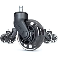 Rollerblade Office Chair Casters Wheels: Perfect Replacement for Desk Floor Chair Mat | Heavy Duty Safe Protection for…