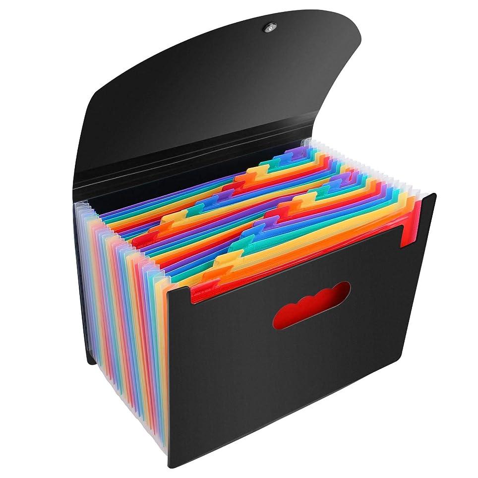 脅かす練るお客様ドキュメントファイル ドキュメントスタンド 収納ファイル 25ポケット ボックスA4サイズ ファイル 文房具 事務用品 バインダー 雑貨 文具 フォルダー ボックス ケース ドキュメントファイル (25ポケット)