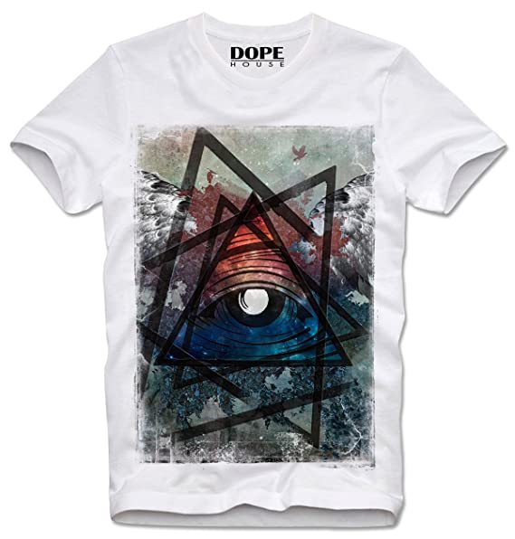 Dopehouse T-Shirt Camiseta All Seeing Eye Trippy Psychedelic Illuminati Illuminaten: Amazon.es: Ropa y accesorios