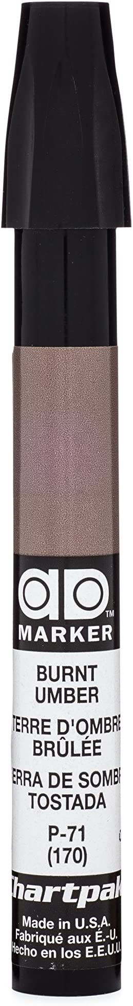 NEW Chartpak AD100 Tri-Nibbed 100 Color Permanent Marker Set ALVIN Professional