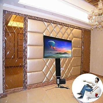 Soporte de TV motorizado de 500 mm, Pantalla Plana LCD, Soporte de TV con Controlador inalámbrico, Ahorra Espacio, Soporte de elevación de TV eléctrica, para TV de 14