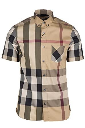 b161f271ec89 BURBERRY Chemise à Manches Courtes Homme thornaby Beige EU S (UK S) 4045837