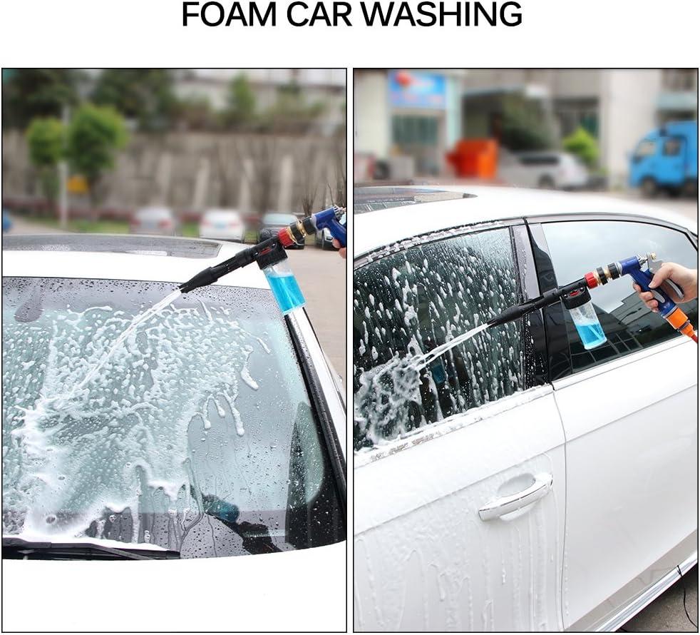 Onever Car Washing Gun Waschanlage Foam Gun Reinigung Sprayer Hochdruckreiniger Gun Einstellbare Schneeschaum Lance Foam Cannon Für Auto Motorrad Fahrzeug Garten Baumarkt