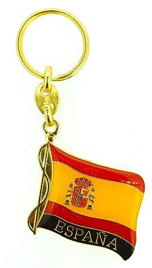 Llavero Bandera España Ondeada: Amazon.es: Hogar