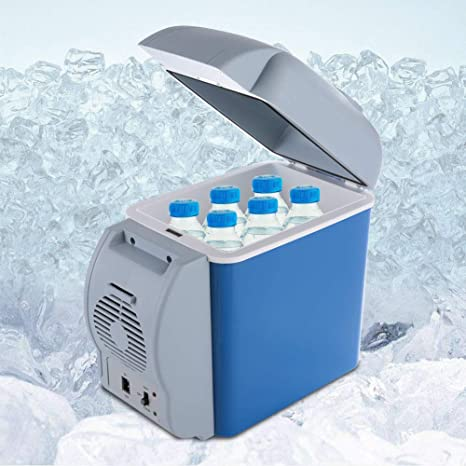 franktea Car Refrigerator 6L Mini Fridge Lightweight Dual-Use Insulated Cooler Box Container for Outdoor Traveling and Camping