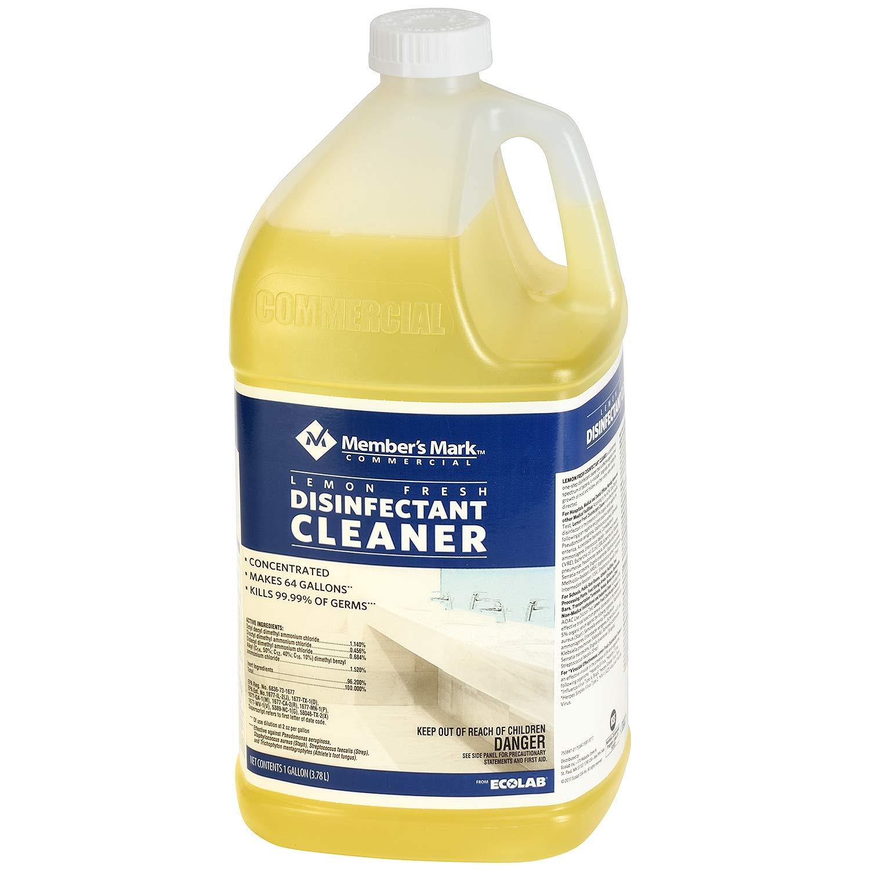 Member's Mark Commercial レモンフレッシュ殺菌クリーナー (1ガロン) - (2個パック) - 多目的クリーナー [大量節約] B07D6CD132