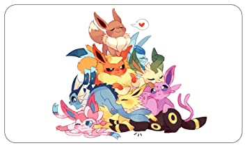 amazon com playmat eevee eeveelution dog pile cute 24 x14