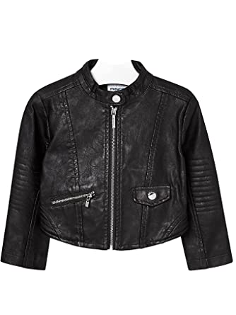 Mayoral 18-04490-072 - Leather Jacket for Girls 3 Years Black