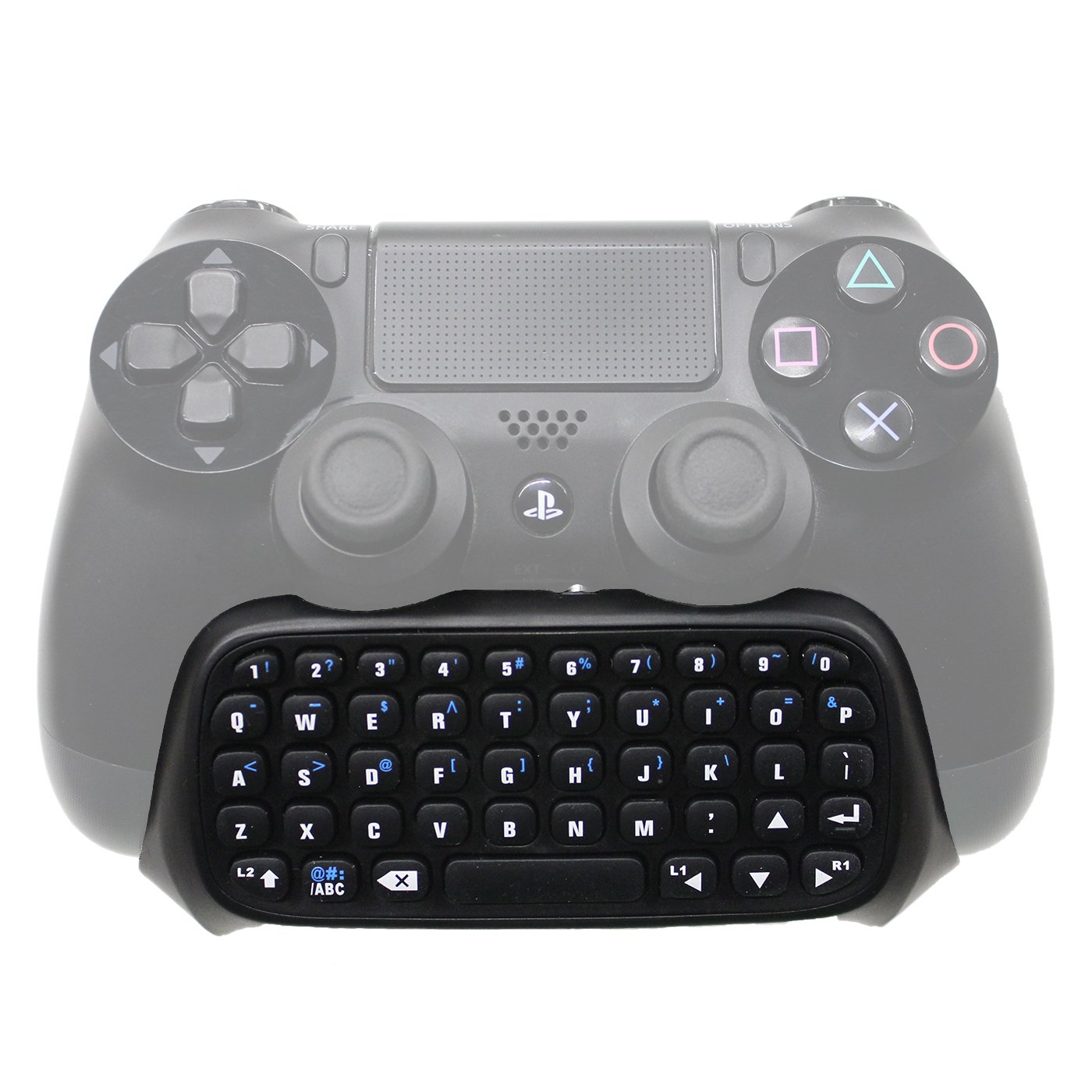 HDE Bluetooth Keypad for Sony PlayStation 4 Wireless Controllers Team Chat Message Pad Keyboard for PS4 DualShock Controllers