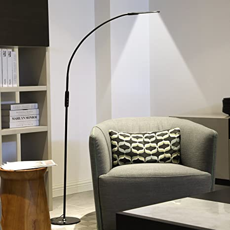 IMIGY Dimmable 9W Floor Lamp, Office/Work/Living Room Reading Flexible  Gooseneck Light with Touch and Remote Control, 5-Level Brightness and Color  ...