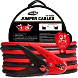 TOPDC Jumper Cables 1-Gauge 25-FT -40℉ to 167℉ 700Amp Heavy Duty Booster Cables with Carry Bag (1AWG x 25')