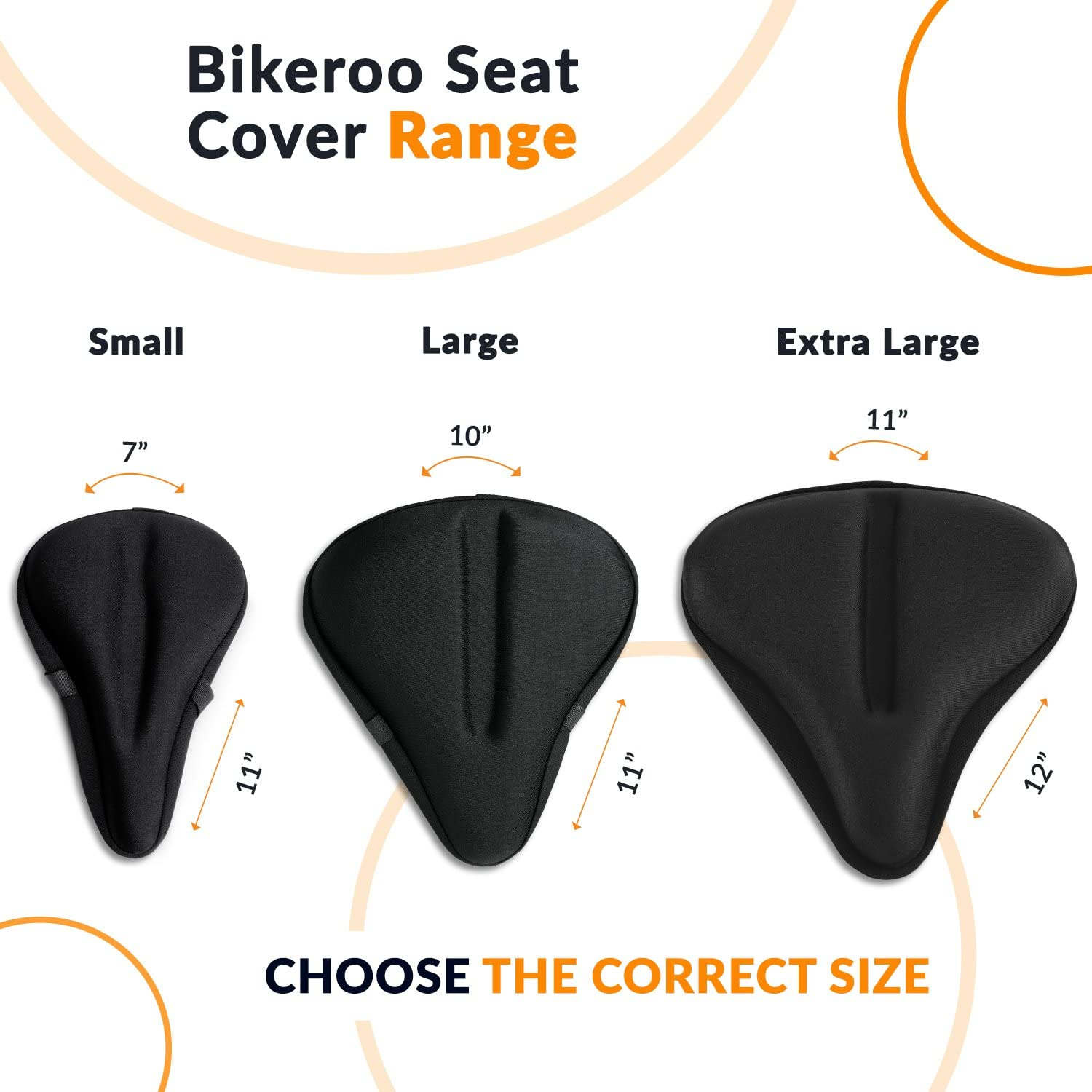 Bike Seat Cover Comfortable Large Wide Memory Bicycle Saddle Cover for Women Men