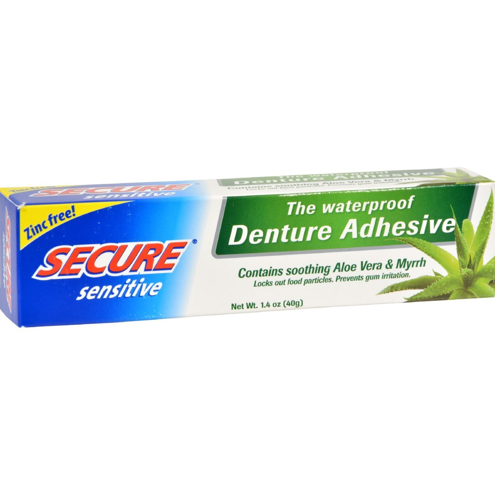 Secure Sensitive Denture Adhesive, 1.4 oz (Pack of 10) by Secure