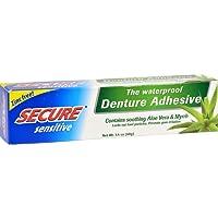 Secure Denture Adhesive, sensitive, 1.4 oz (3 pack)