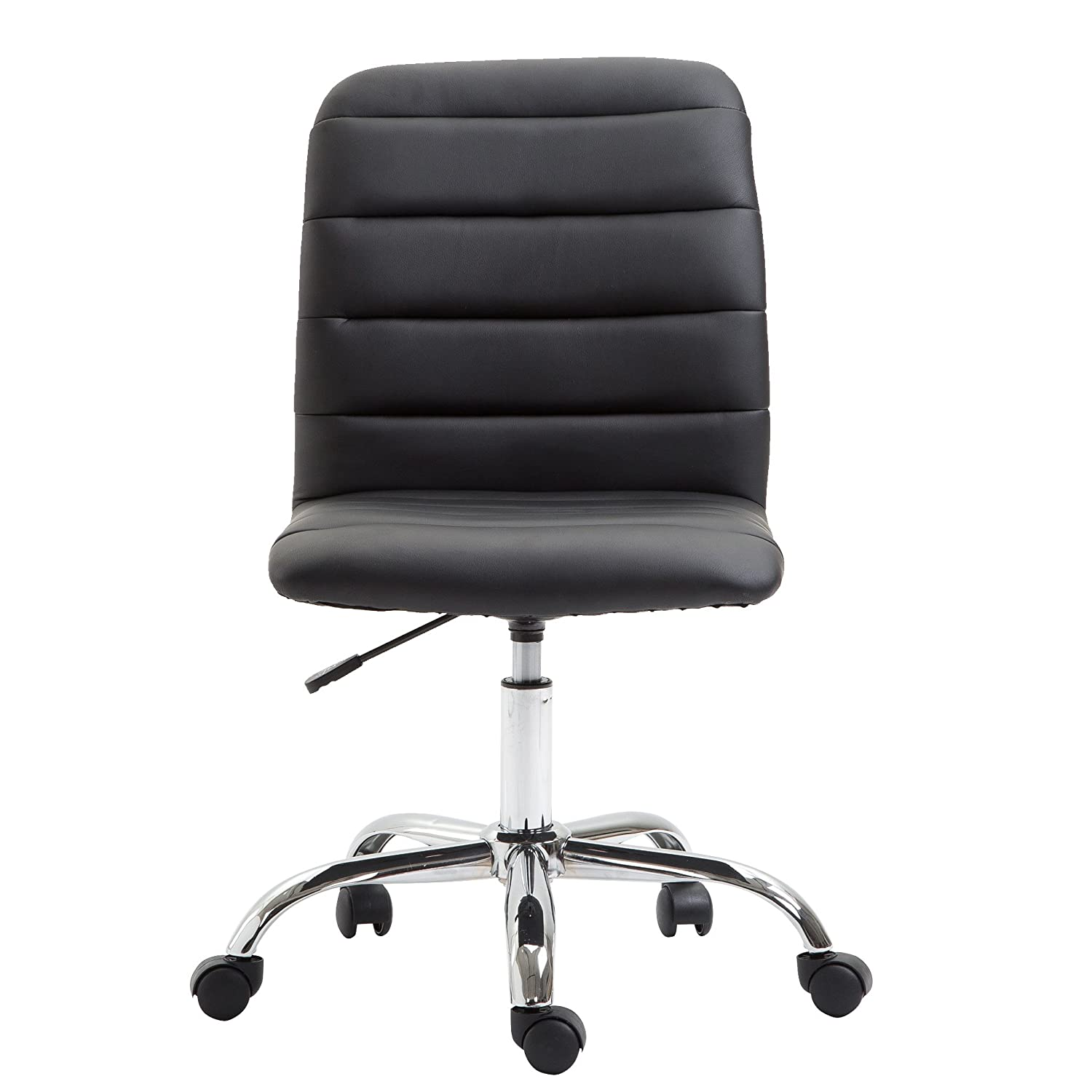 Poly and Bark Polox Task Chair in Vegan Leather, Black