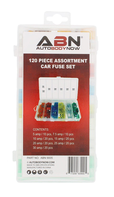 Amazon.com: ABN 120-Piece Standard Fuse Assortment, 5, 7.5, 10, 15, 20, 25,  30 AMP – Regular ATM Blade Fuses for Cars, Trucks, Boats: Automotive