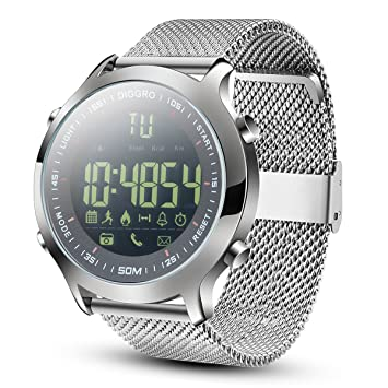 Diggro DI04 Montre Connecté IP68 Étanche Bluetooth Smart Watch Podomètre Moniteur Calories Chronomètre Contrôle du Caméra