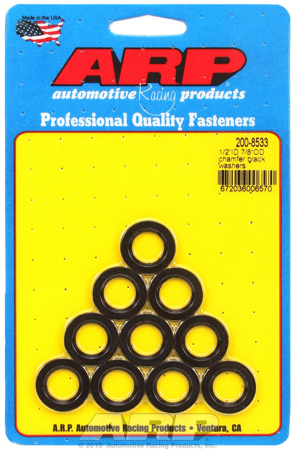 ARP 2008533 10-Pack Of Special Purpose Washers, 1/2' Inside Diameter, 7/8' Outside Diameter.120' Thick 1/2 Inside Diameter 7/8 Outside Diameter.120 Thick 200-8533
