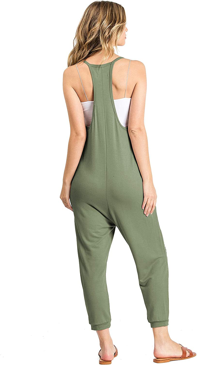 Wasabi /& Mint Womens Terry Cloth Cropped Leg Jumpsuit