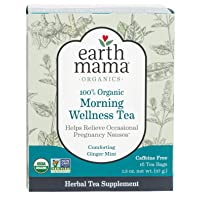 Earth Mama Organic Morning Wellness Tea Bags for Occasional Morning Sickness, 16...
