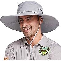 Gisdanchz UPF50+ Sombrero ala Ancha para Pescador con Funda de Sombrero Extraíble y Corona de Malla